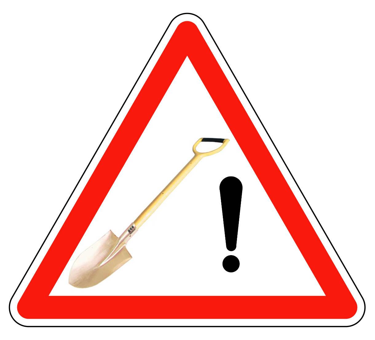 panneau fictif pelle danger